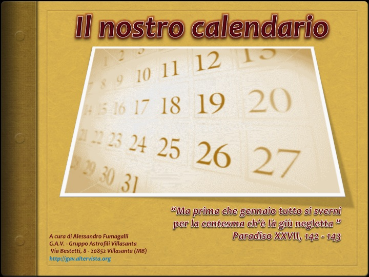 Riforma Calendario Gregoriano.Calendario Gregoriano Articoli Di Astronomia