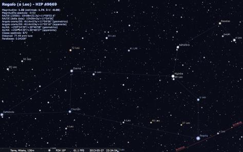 La costellazione del Leone con Stellarium