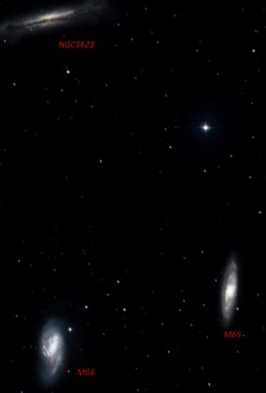 Il Tripletto del Leone (Fonte: http://www.worldwidetelescope.org)