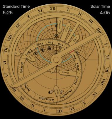 Calcolo dell'ora a partire dall'altezza del Sole - Software 2play Astrolabe