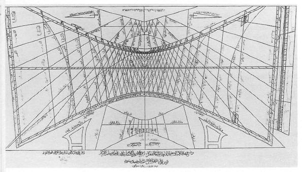 Meridiana di Ibn al-Shatir per il minareto di Umayyad a Damasco (1371-1372)