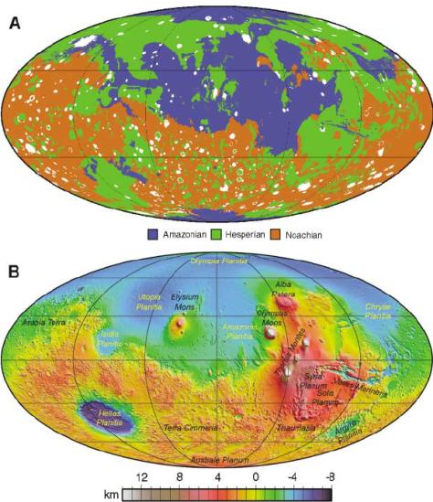 Mappa geologica di Marte
